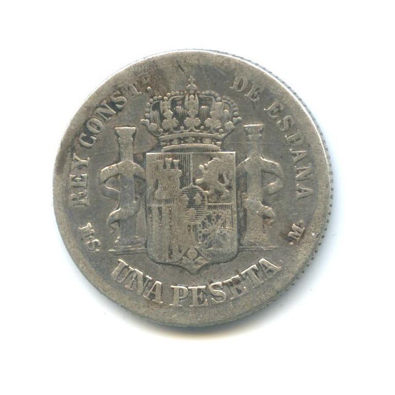1 песета - Альфонс XII 1883 года (Испания)
