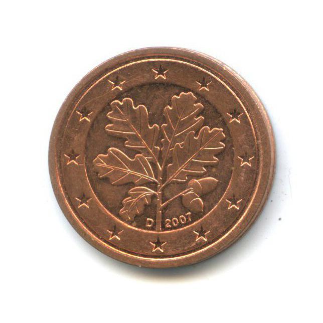 2 цента 2007 года D (Германия)