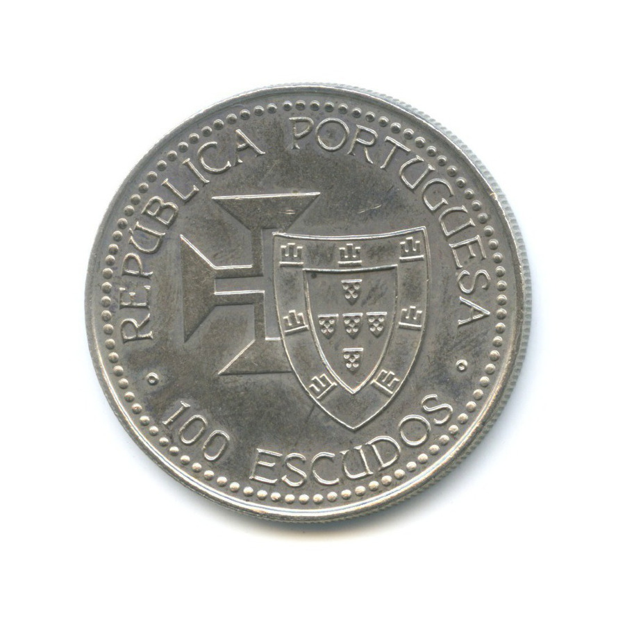 100 эскудо — Золотой век открытий - Открытие острова Мадейра 1989 года (Португалия)