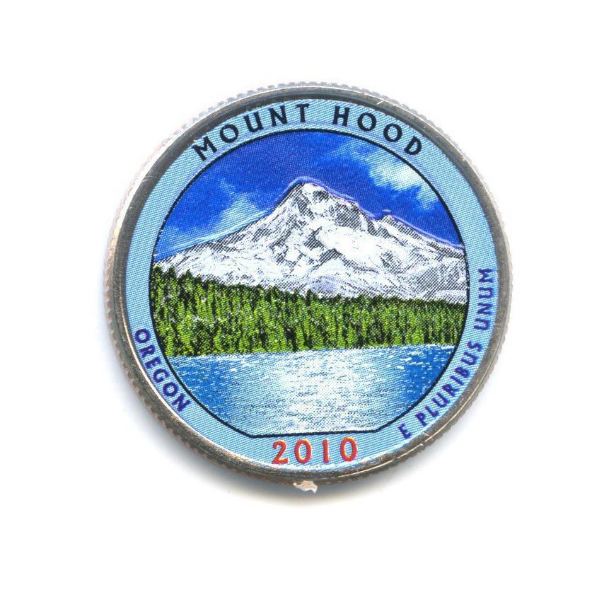 25 центов (квотер) — Национальный лес Маунд Худ, вцвете 2010 года P (США)