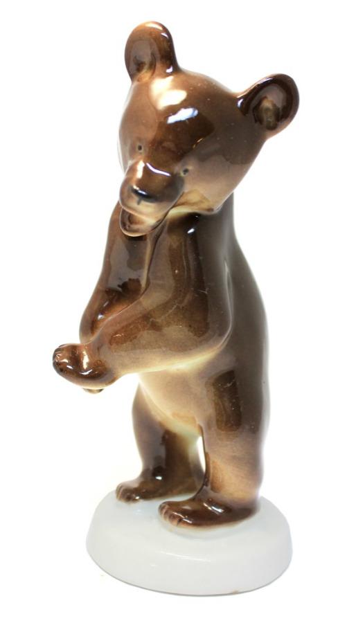 Фигурка «Медведь» (ЛФЗ, 14,5 см, 50-60-е гг.) (СССР)