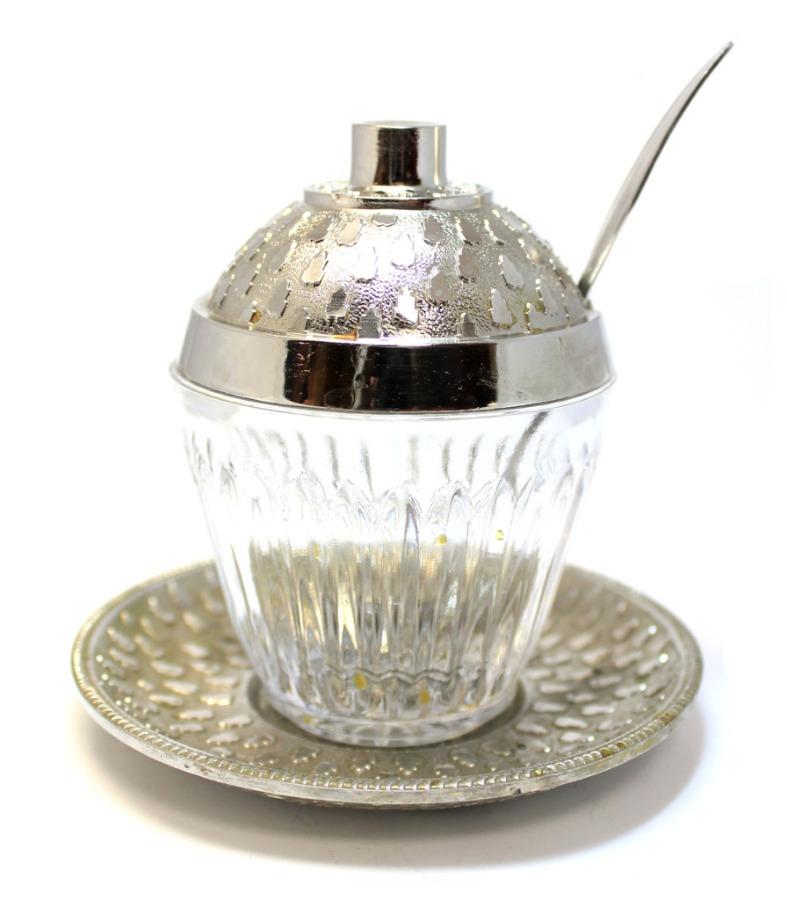 Соусница-горчичница сложечкой иблюдцем (10 см, 10,5 см, 12 см)