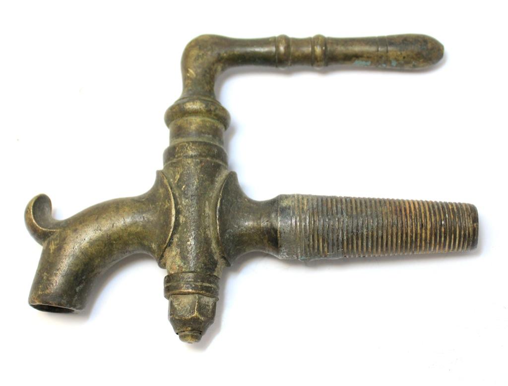 Кран бочковой (клеймо «ЖИЛИНЪ», до1917 г., латунь), 14 см