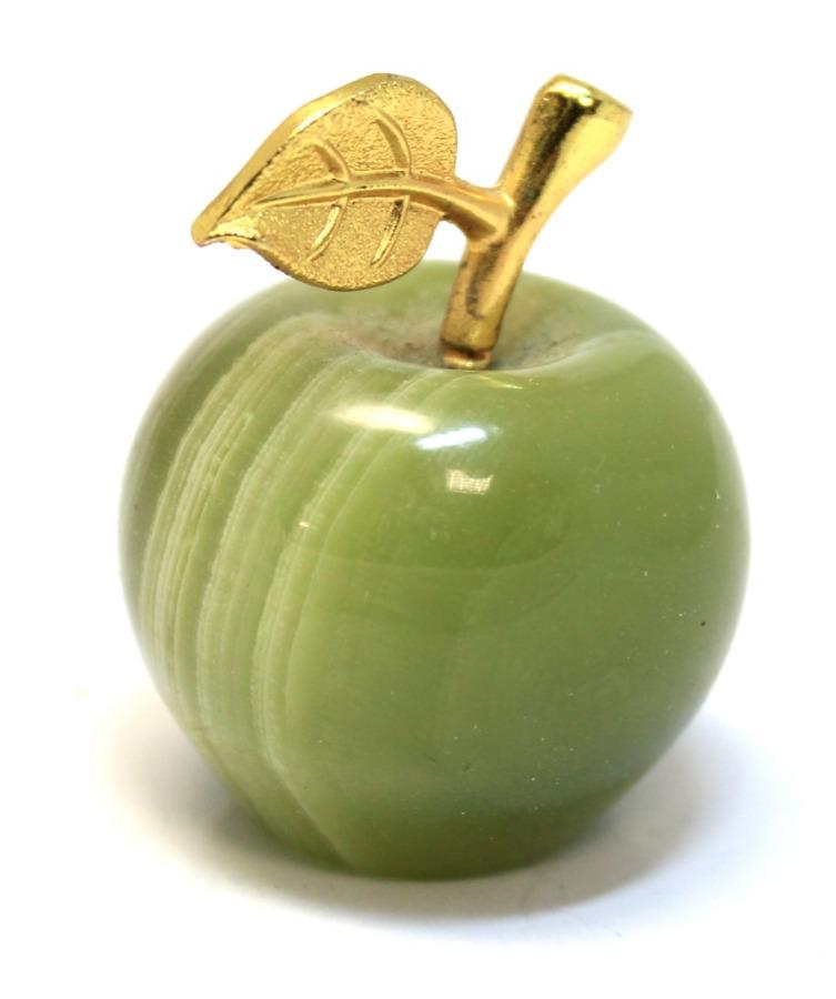 Фигурка «Яблоко» (натуральный камень оникс, 4,5 см)