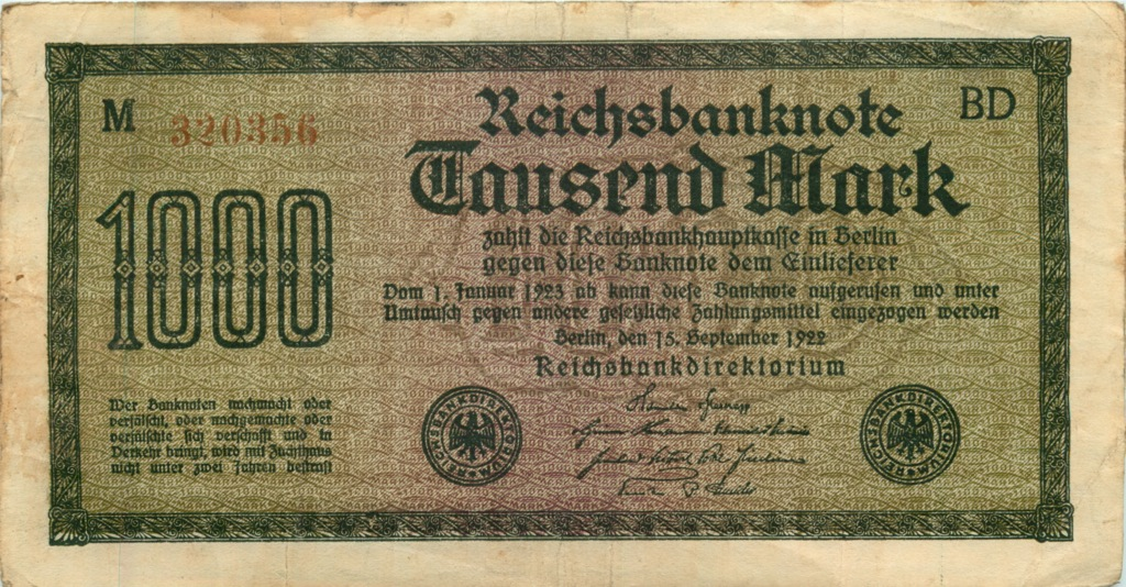 1000 марок 192 года (Германия)
