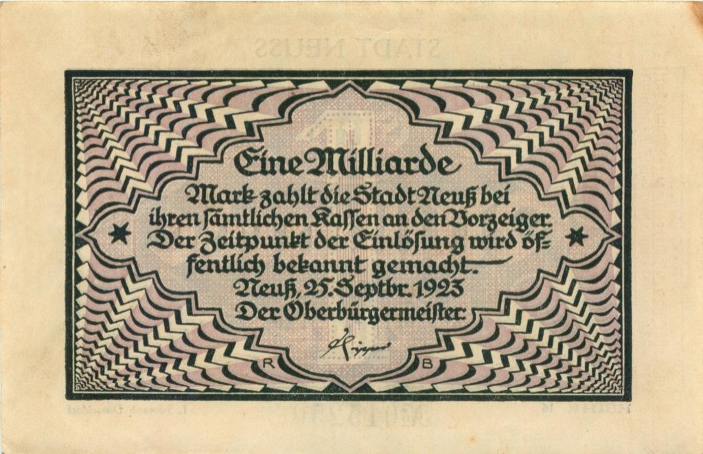 1 миллиард (нотгельд) 1923 года (Германия)