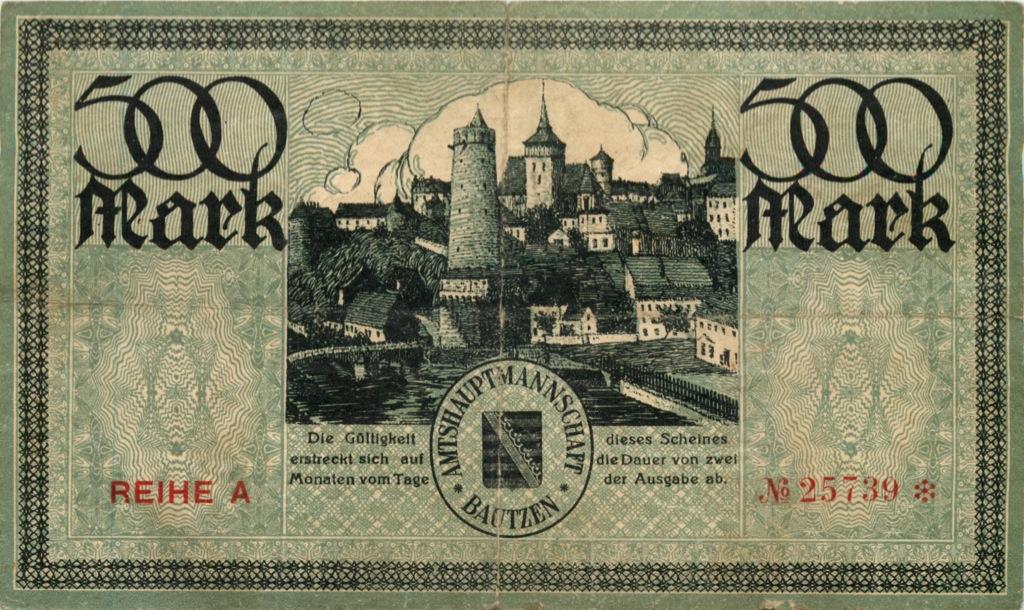 500 марок (нотгельд) 1922 года (Германия)