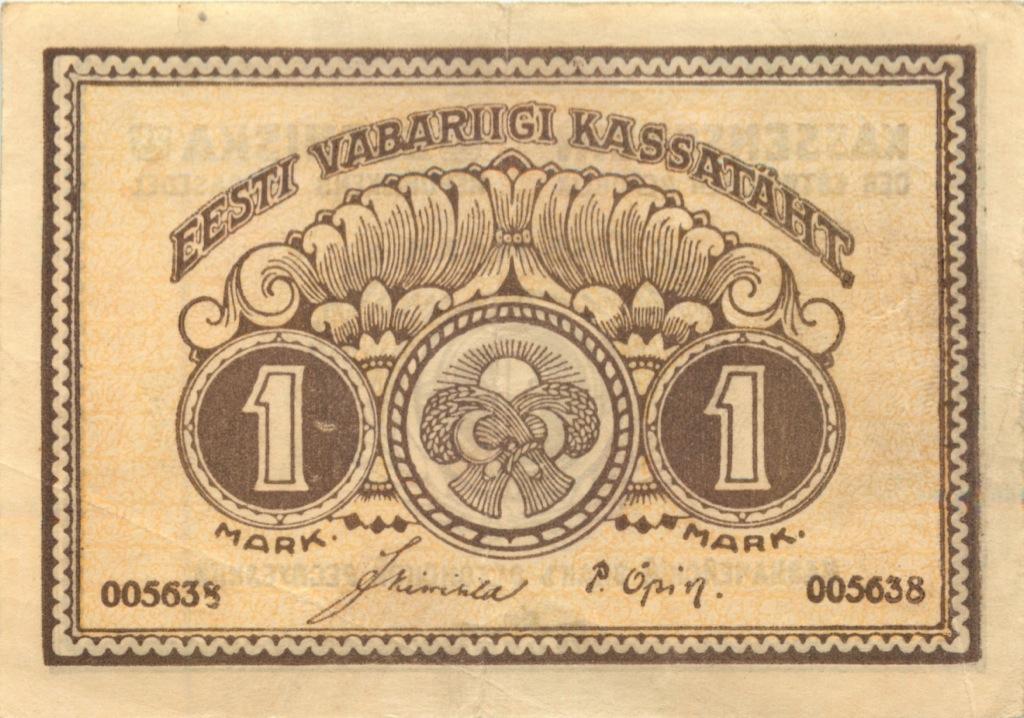 1 марка 1919 года (Эстония)