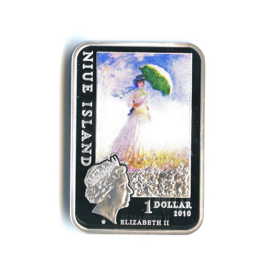 1 доллар - Картины художника Клода Моне, о. Ниуэ (вцвете, ссертификатом, в футляре) 2010 года