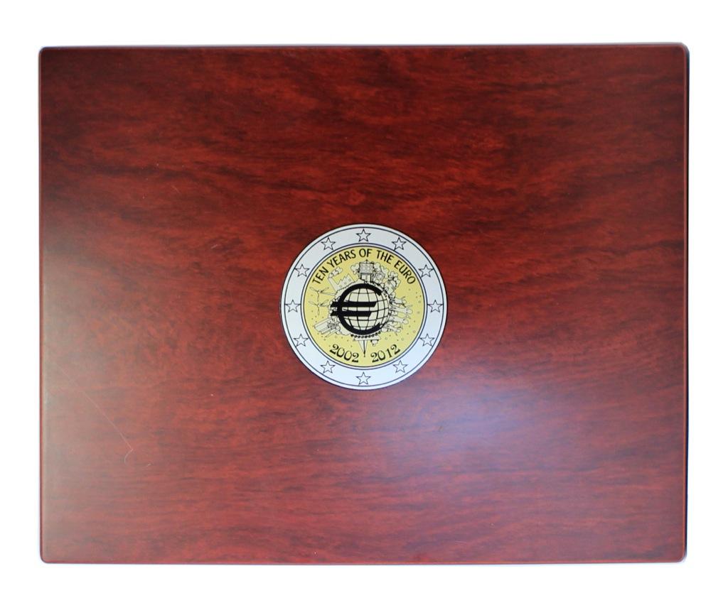 Коробка для монет «2 евро 2012 - 10 лет евро наличными»