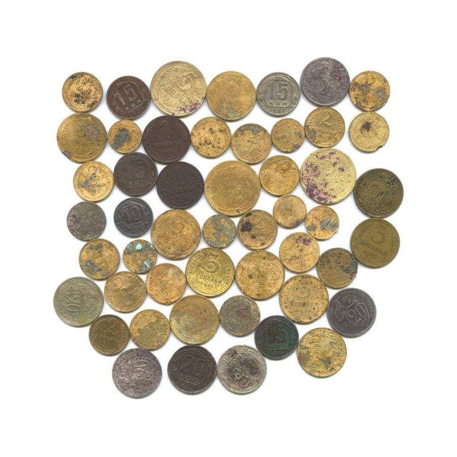 Набор монет СССР (50 шт.) 1924-1957