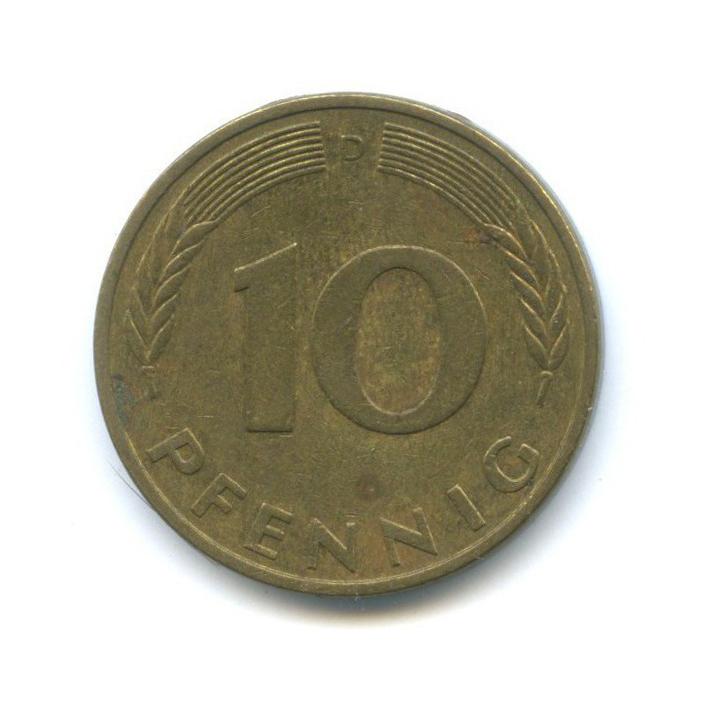 10 пфеннигов 1981 года D (Германия)