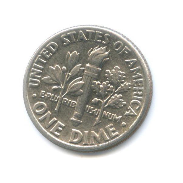 10 центов (дайм) 1989 года D (США)
