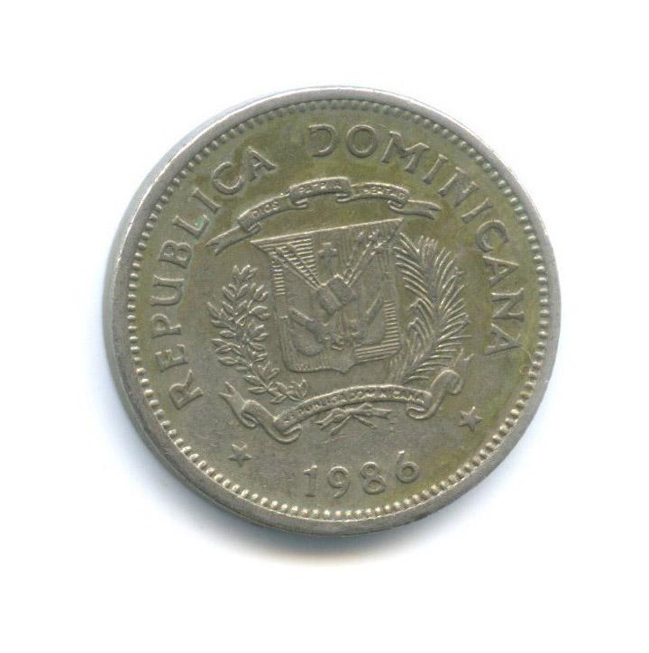 5 сентаво - Санчес иМелла, Доминиканская Республика 1986 года