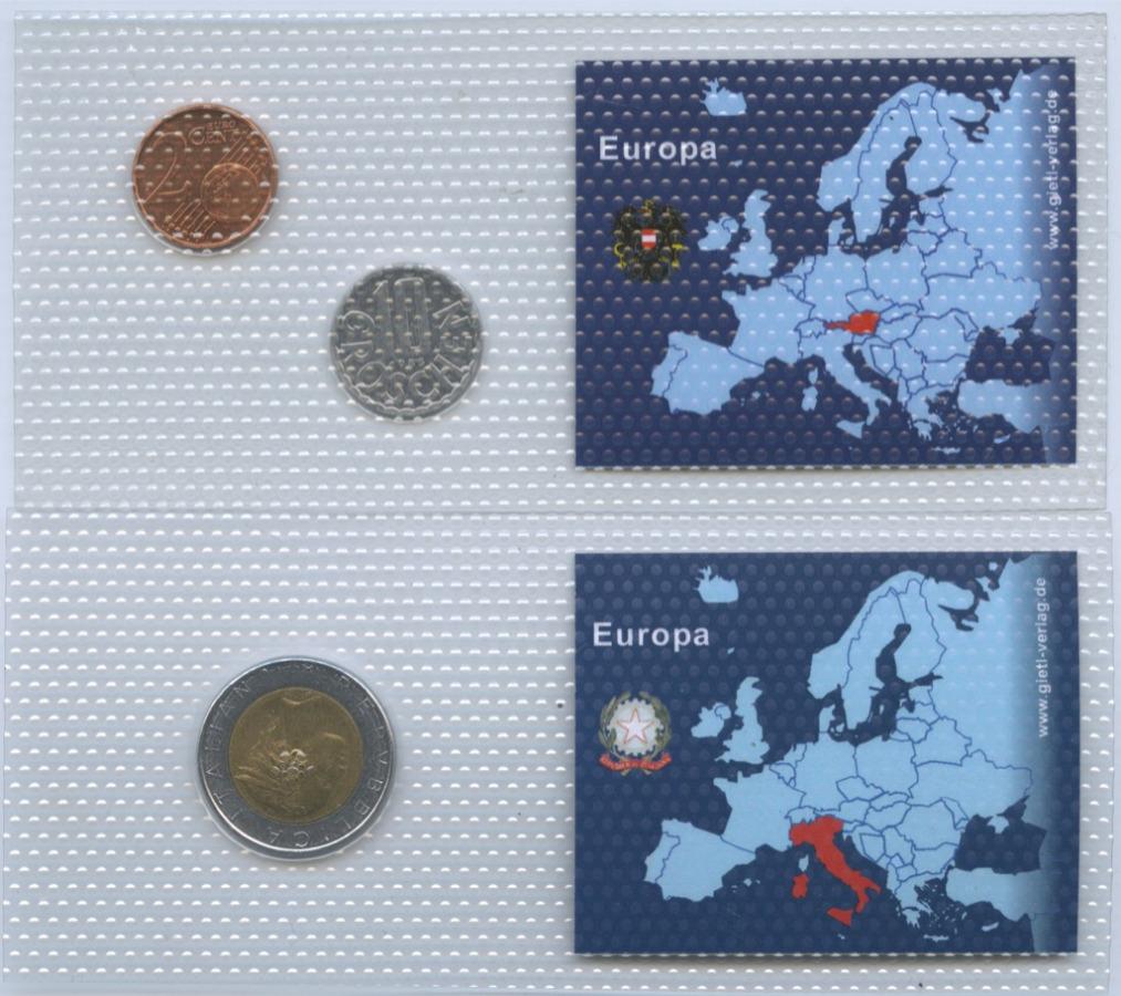 Набор монет (Австрия, Италия)