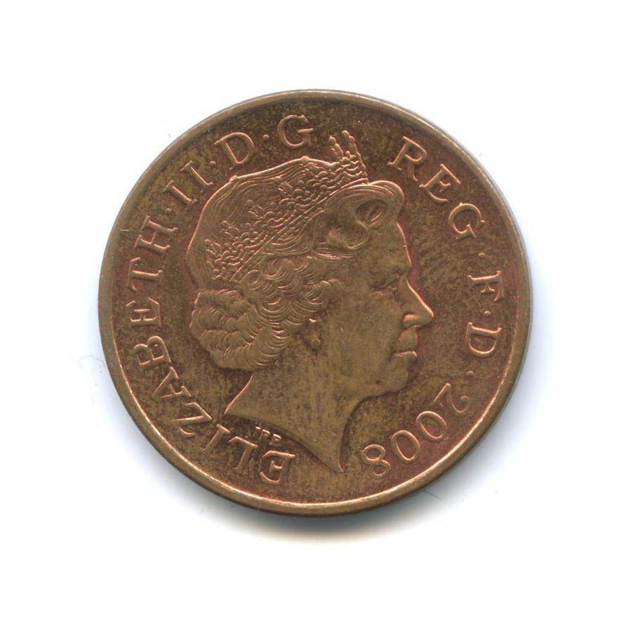 2 пенса - Фрагмент герба британской королевской семьи 2008 года n (Великобритания)