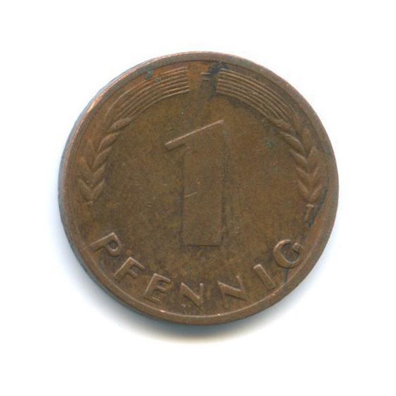 1 пфенниг 1969 года F (Германия)