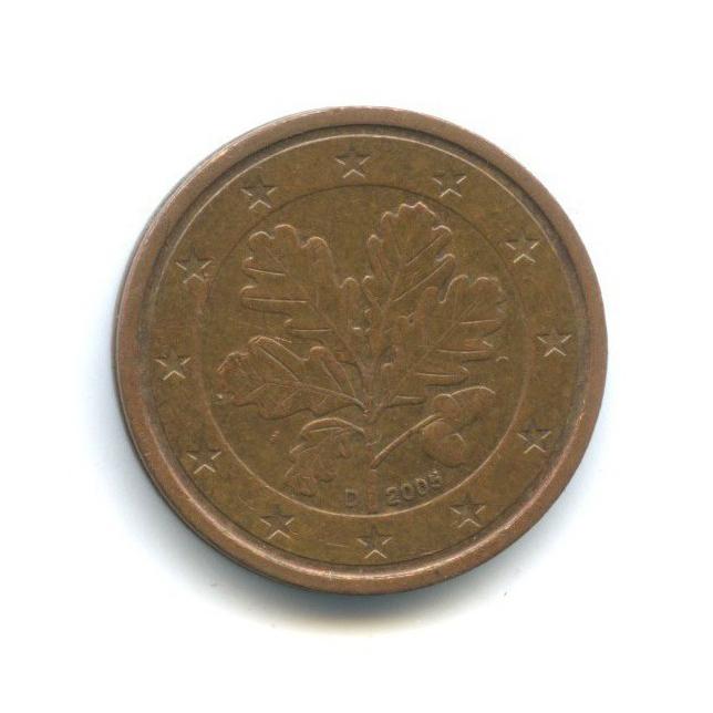 2 цента 2005 года D (Германия)