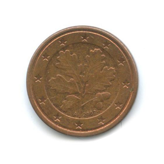 1 цент 2002 года A (Германия)