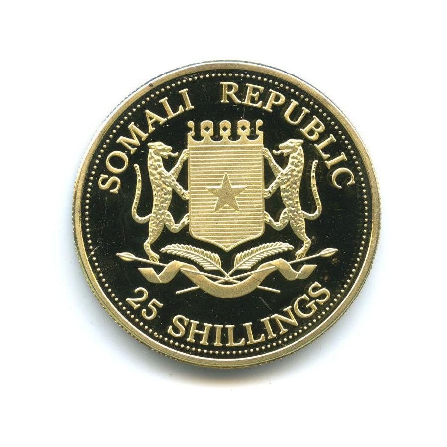 Жетон «25 shillings 2004 - Nelson Mandela Meets Pope John Paul II, Somali Republic»