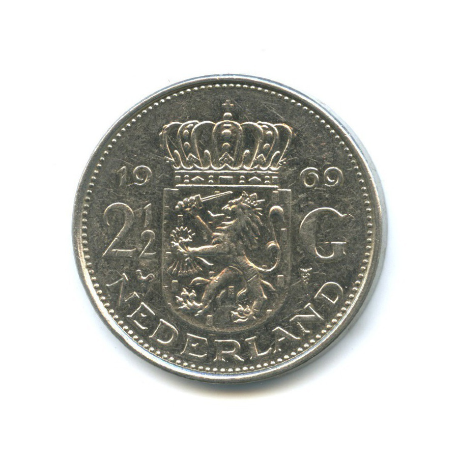 2½ гульдена 1969 года c (Нидерланды)