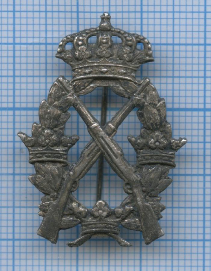 Знак армейский «Заотличную стрельбу извинтовки», II степень (Швеция)