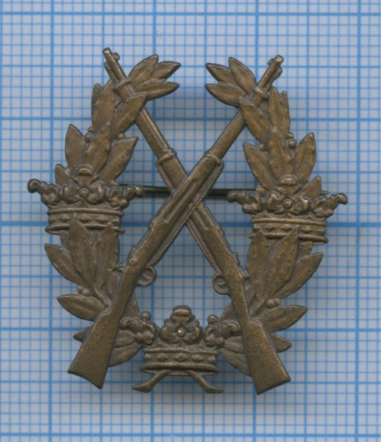 Знак армейский «Заотличную стрельбу извинтовки», IIIстепень (Швеция)
