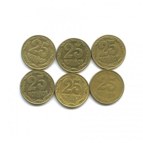 Набор монет 25 копеек 1992 года (Украина)