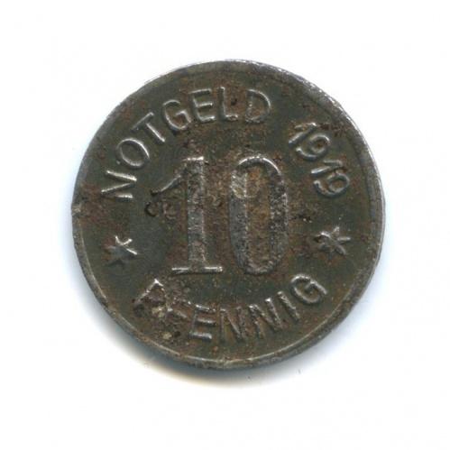 10 пфеннигов, Битигхайм-Биссинген (нотгельд) 1919 года (Германия)