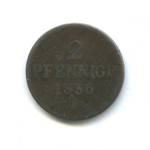 2 пфеннига, Саксония 1856 года