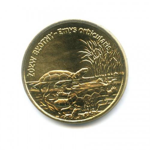2 злотых — Всемирная природа - Болотная черепаха 2002 года (Польша)