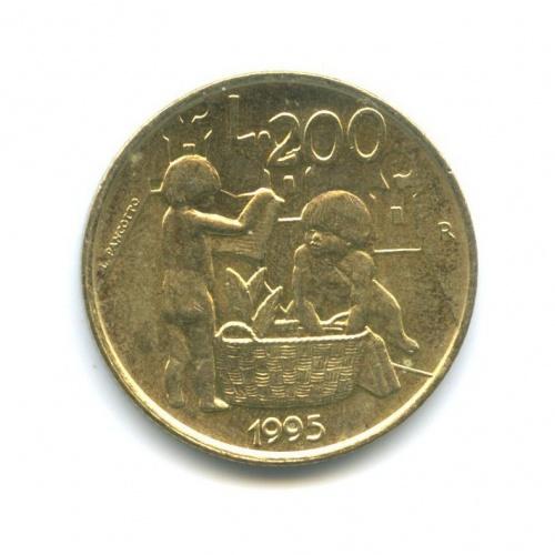 200 лир - Гражданские Обязательства третьего тысячелетия 1995 года (Сан-Марино)