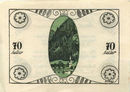 70 геллеров (нотгельд) 1922 года (Австрия)