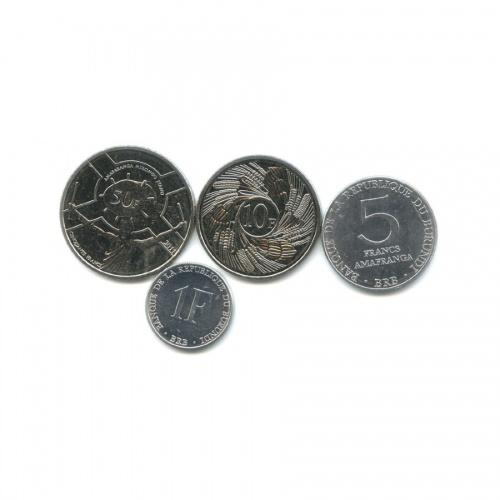 Набор монет, Республика Бурунди 1980, 2011