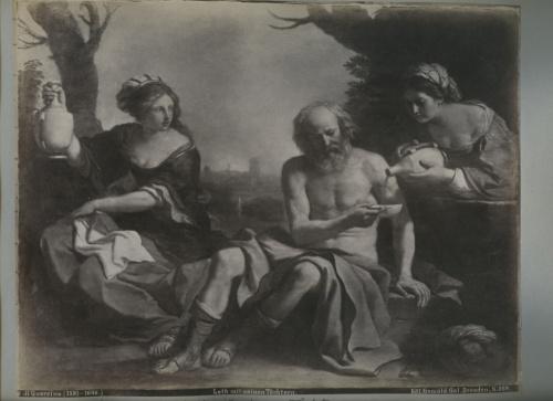 Лист альбомный сфотографией «Loth mit seinen Tochtern» (34×24 см) (Германия)