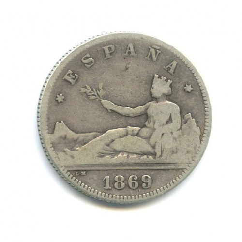2 песеты 1869 года (Испания)