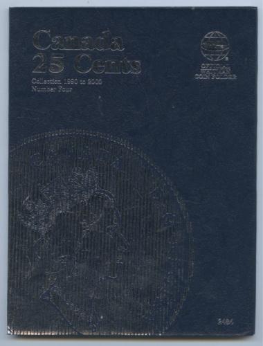 Альбом-планшет для монет «Canada 25 cents, 1990-2000» (46 ячеек)
