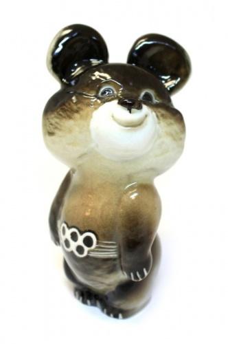 Фигурка «Олимпийский мишка» (фарфор, 11,5 см) (СССР)