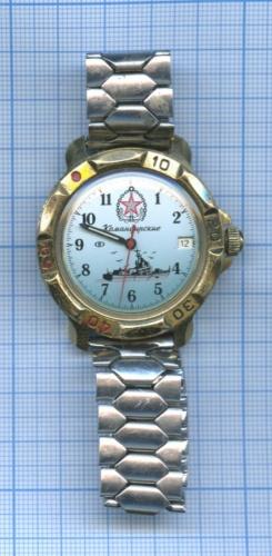 Часы наручные «Командирские», водонепроницаемые (врабочем состоянии) (Россия)