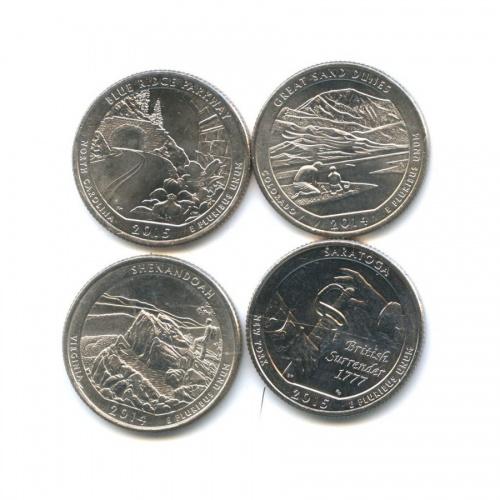 Набор юбилейных монет 25 центов (квотер) 2014-2015 (США)
