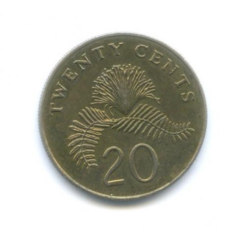 20 центов 1986 года (Сингапур)