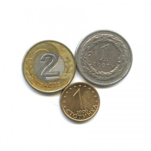 Набор монет (Болгария, Польша) 1994, 2000