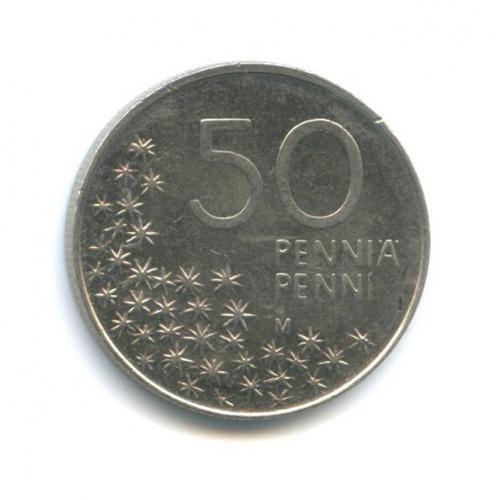 50 пенни 1990 года (Финляндия)