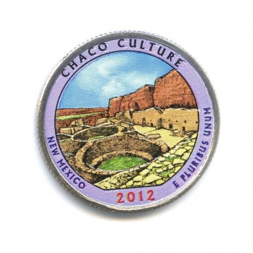 25 центов (квотер) — Национальный исторический парк Чако, вцвете 2012 года P (США)