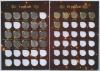 Набор монет вальбоме «Современные Рубли» СПМД, ММД (Россия)