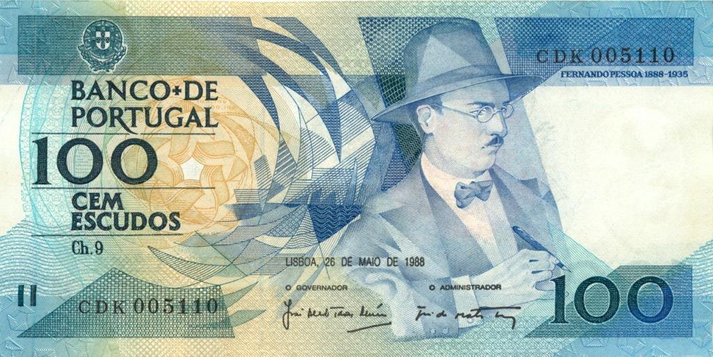100 эскудо 1988 года (Португалия)