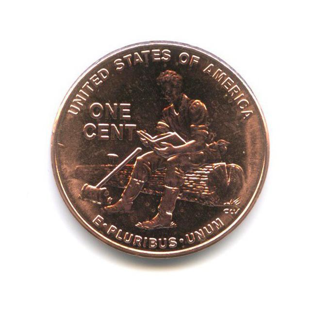 1 цент — 200 лет содня рождения Авраама Линкольна - Юность вИндиане 2009 года D (США)