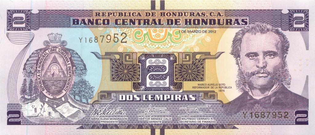2 лемпиры (Гондурас) 2012 года
