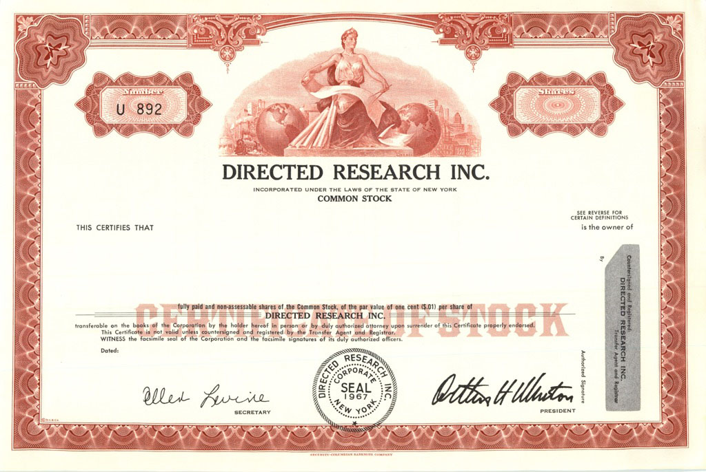 Акция «Directed Research Inc» (США)