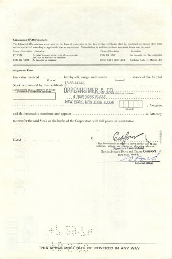 100 акций («Medcom, Inc») 1973 года (США)